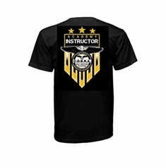 New Instructor T-Shirts- Black T-Shirt  With Gold & White Logo