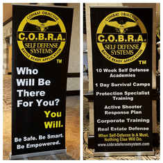 Vertical Presentation Banners / Stand Included - Pick ONE or BOTH - Free Instructor Shirt with all orders