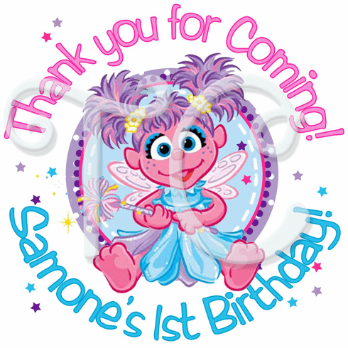 2 Sheets Of Abby Cadabby Personalized Birthday Stickers