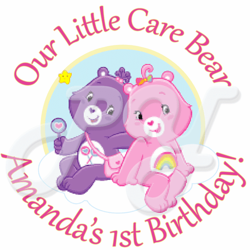 24 Bears Personalized Stickers