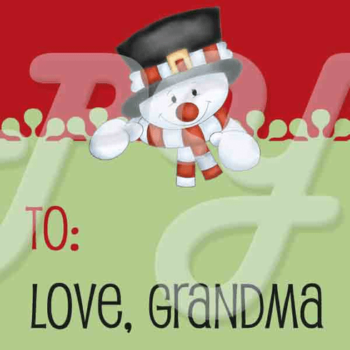 24 Christmas Snowman personalized gift sticker