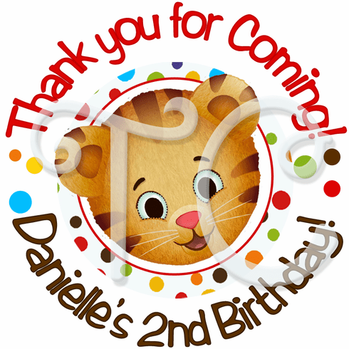 24 Daniel's Tiger Neighborhood Personalized Stickers