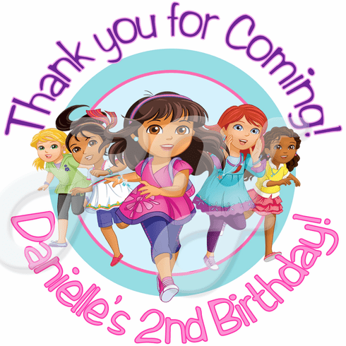 24 Dora And Friends Into the City Personalized stickers