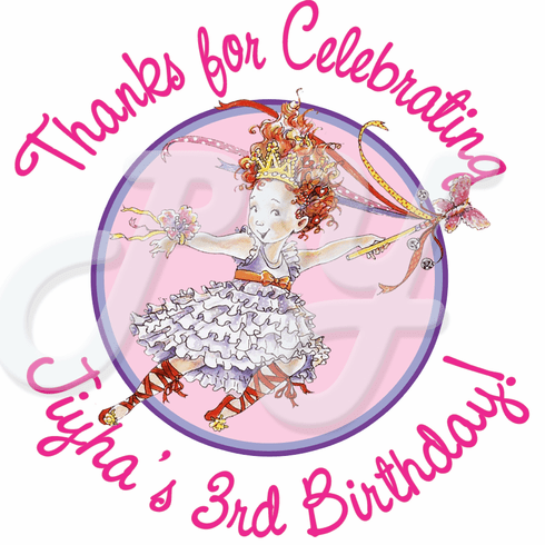 24 Fancy Nancy Personalized Stickers