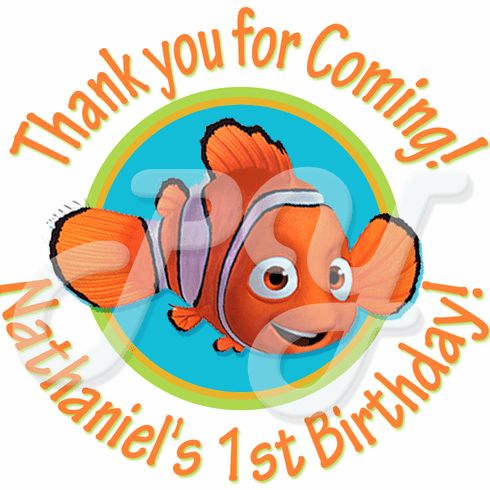 24 Finding Nemo Personalized Stickers