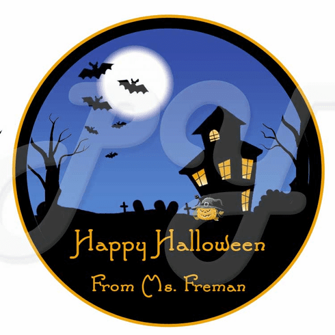 24 Hunted House Personalized Stickers