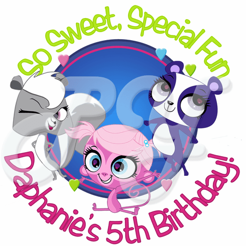 24 Littlest Pet Shop Personalized Stickers