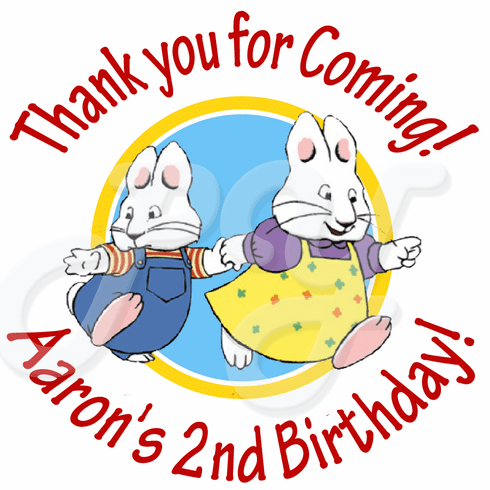 24 Max and Ruby Personalized Stickers