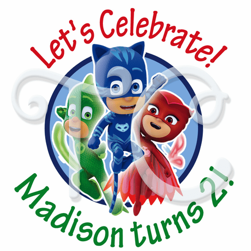 24 PJ Mask personalized Stickers