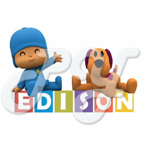 24 Pocoyo personalized birthday stickers