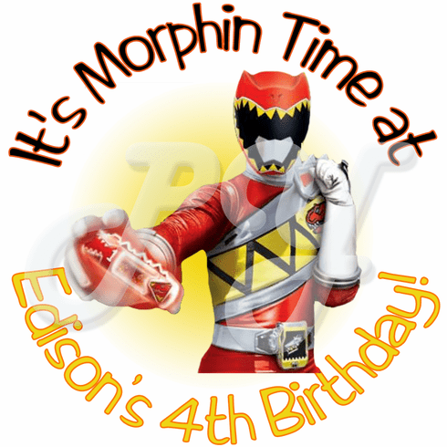 24 Power Rangers Dino Charge Personalized Stickers