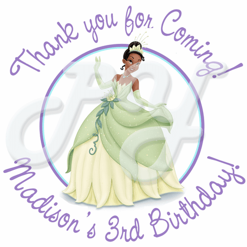 24 Princess and the Frog Personalized Stickers
