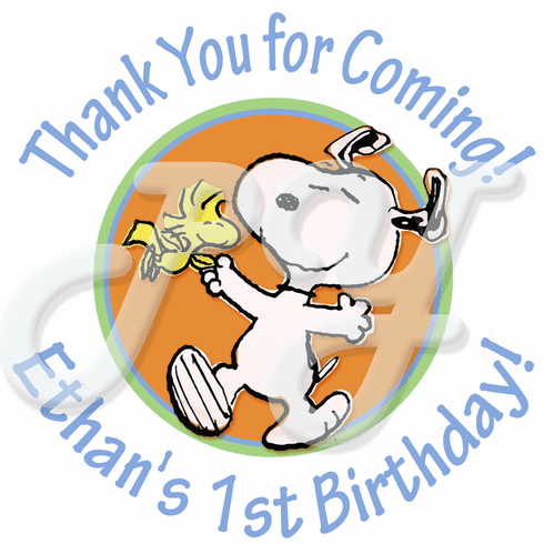 24 Snoopy Personalized Stickers