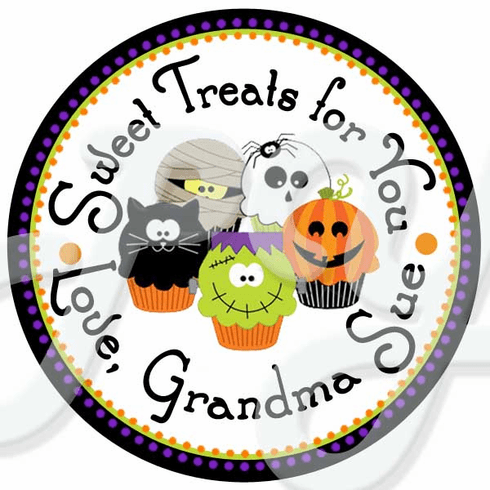 24 Spooky Sweet Treats Stickers