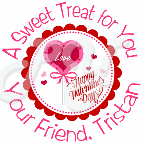 24 Valentine's Day Personalized Gift Tags and Stickers