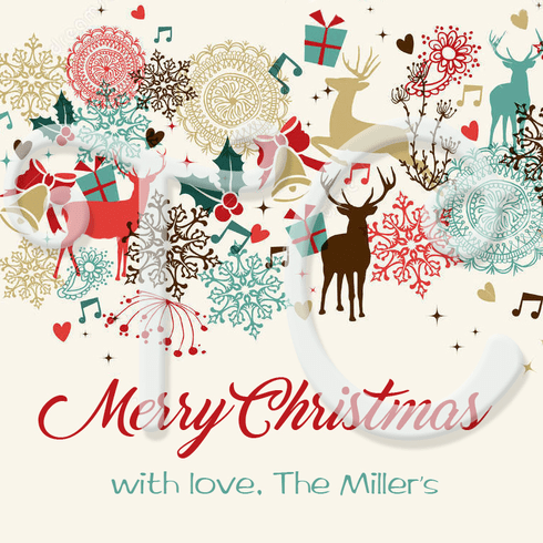 24 Vintage Christmas Personalized Stickers
