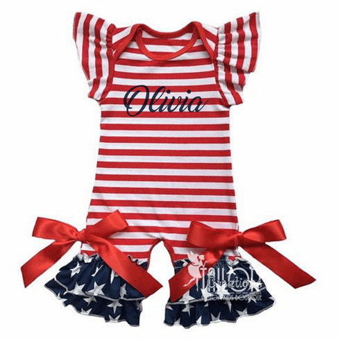 4th of July Baby Romper Jumpsuit