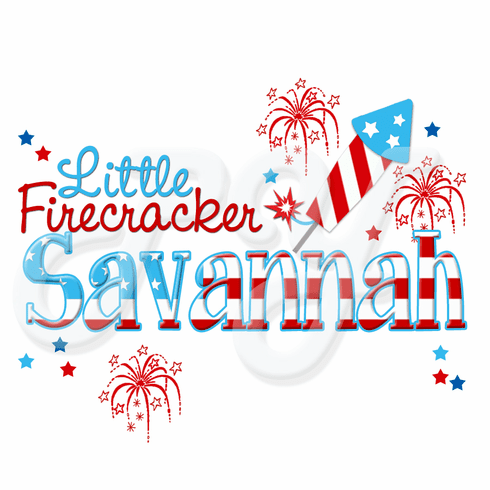 4th Of July Firecracker Personalized t-shirt