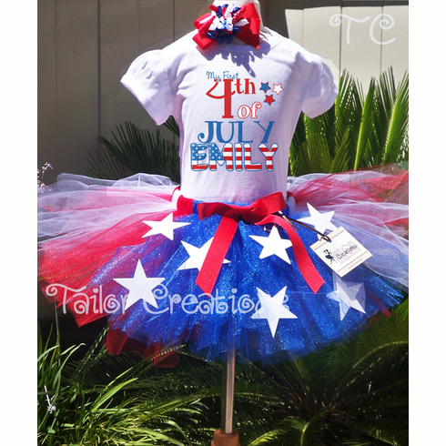 4th of July Flag Custom Tutu Set