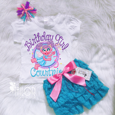 Abby Cadabby Birthday Petti lace set