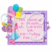 Abby Cadabby Personalized Party Favor