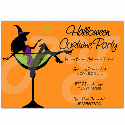 Adult Costume Cocktail Party Invitations