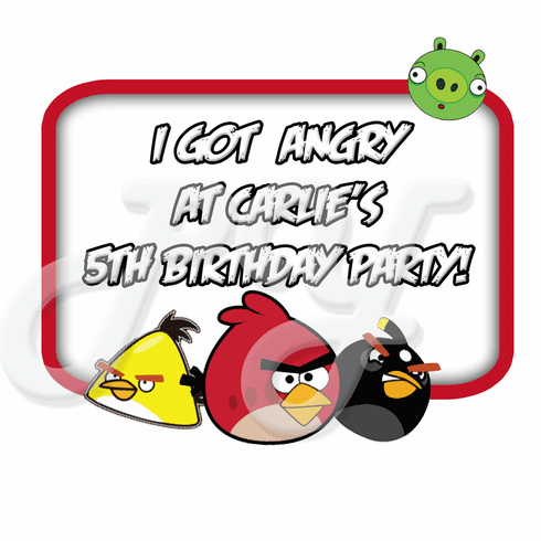 Angry Bird Personalized Party Favor