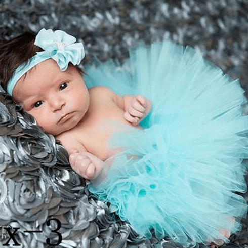 Aqua Blue Newborn tutu Custom set