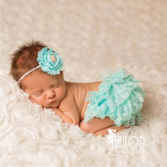 Aqua Petti lace bloomers Set