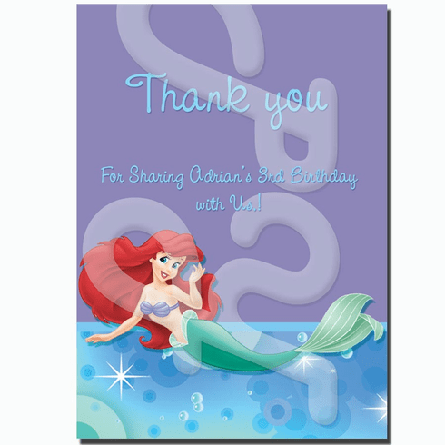 Ariel personalized thank you cards