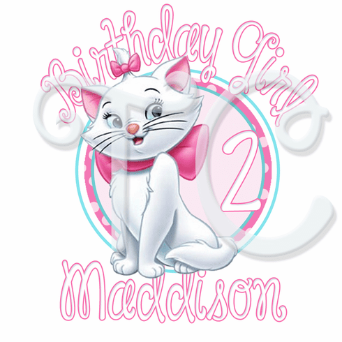 Aristocats Marie Personalized Birthday t shirt