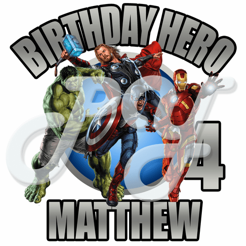Avengers personalized birthday t-shirt