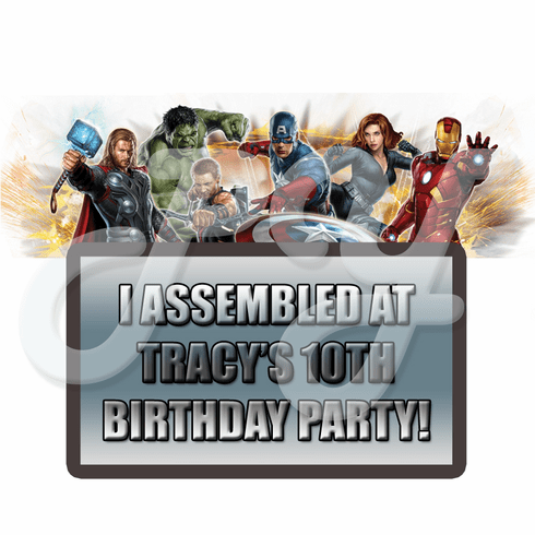 Avengers Personalized Party favor