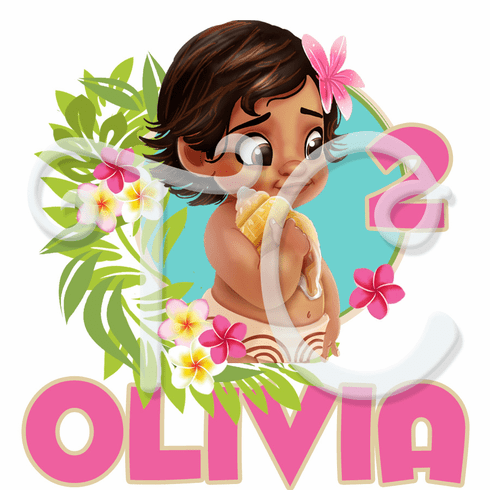 Baby Moana Personalized Birthday t shirt