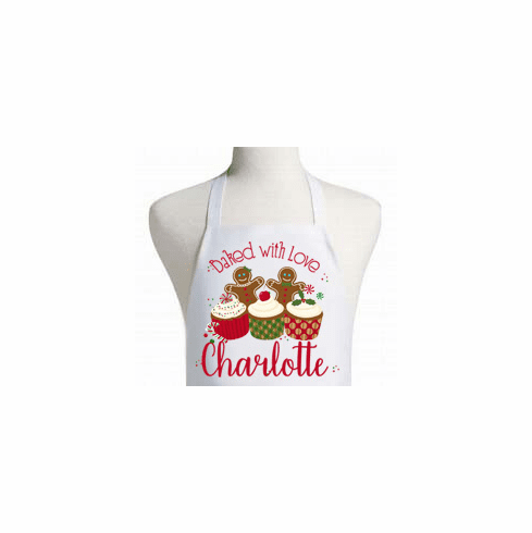Baked with Love Christmas Apron