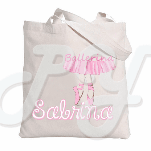 Ballet Slippers Personalized Tote Bag