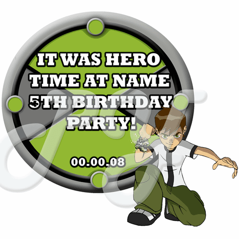 Ben 10 Omniverse Personalized Party Favor