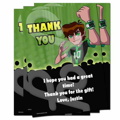 Ben 10 Omniverse Personalized Thank You Cards