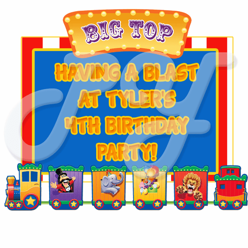 Big Top Circus Personalized Party Favors