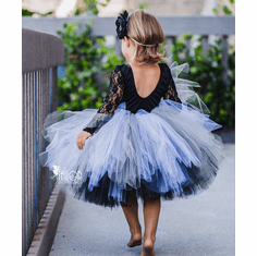 Black and Silver tutu Skirt