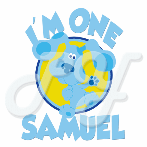 Blue's Clues personalized birthday t shirt