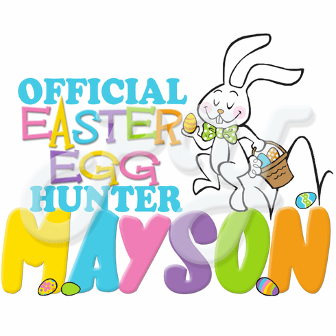 Boy Official Egg Hunter Easter personalized t shirt