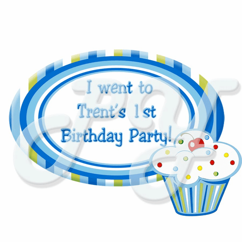 Boy's Lil Cupcake Personalized Party Favor