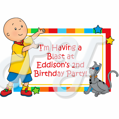 Caillou Personalized Party Favor
