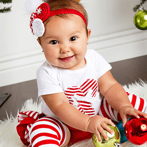 Candy Cane  Christmas Personalized Bloomers Set