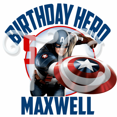 Captain America personalized birthday t shirt