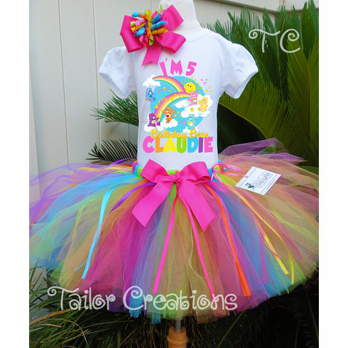 Care Bears personalized Birthday tutu set
