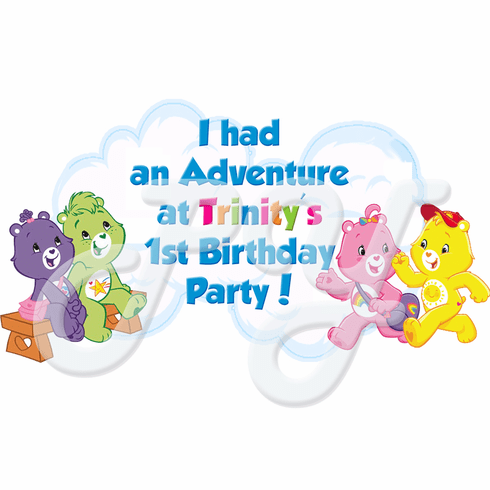 Care Bears Personalized Party Favor