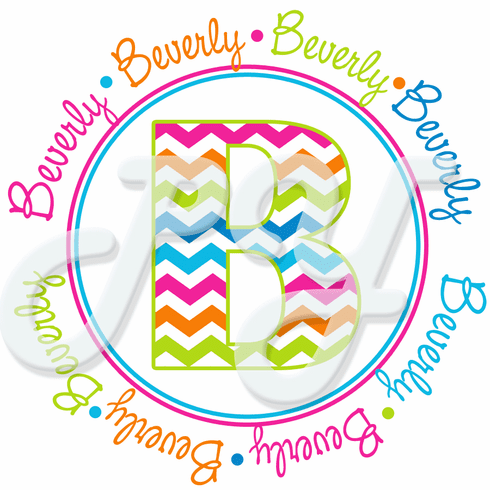 Chevron Monogrammed Personalized t shirt