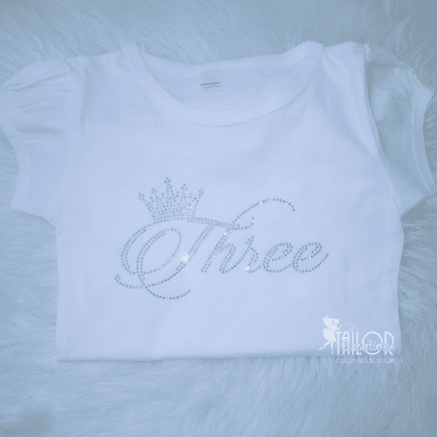 Crown Rhinestone Kids Birthday shirt